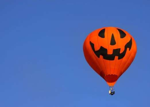owl o ween hot air balloon festival usa with halloween just around