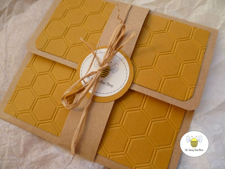 Reusable honeycombed themed packaging - a special treat from Oh,Honey Bee Mine
