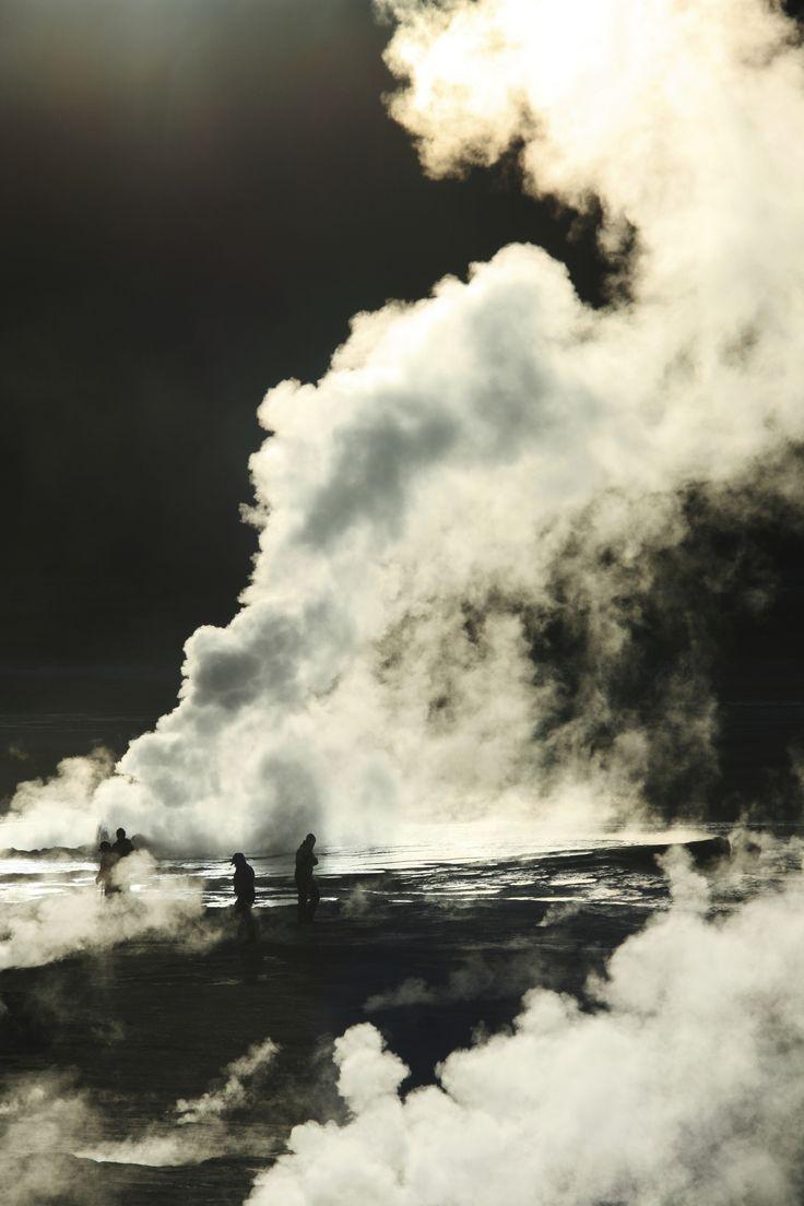 Atacama's El Tatio geyser at sunrise...