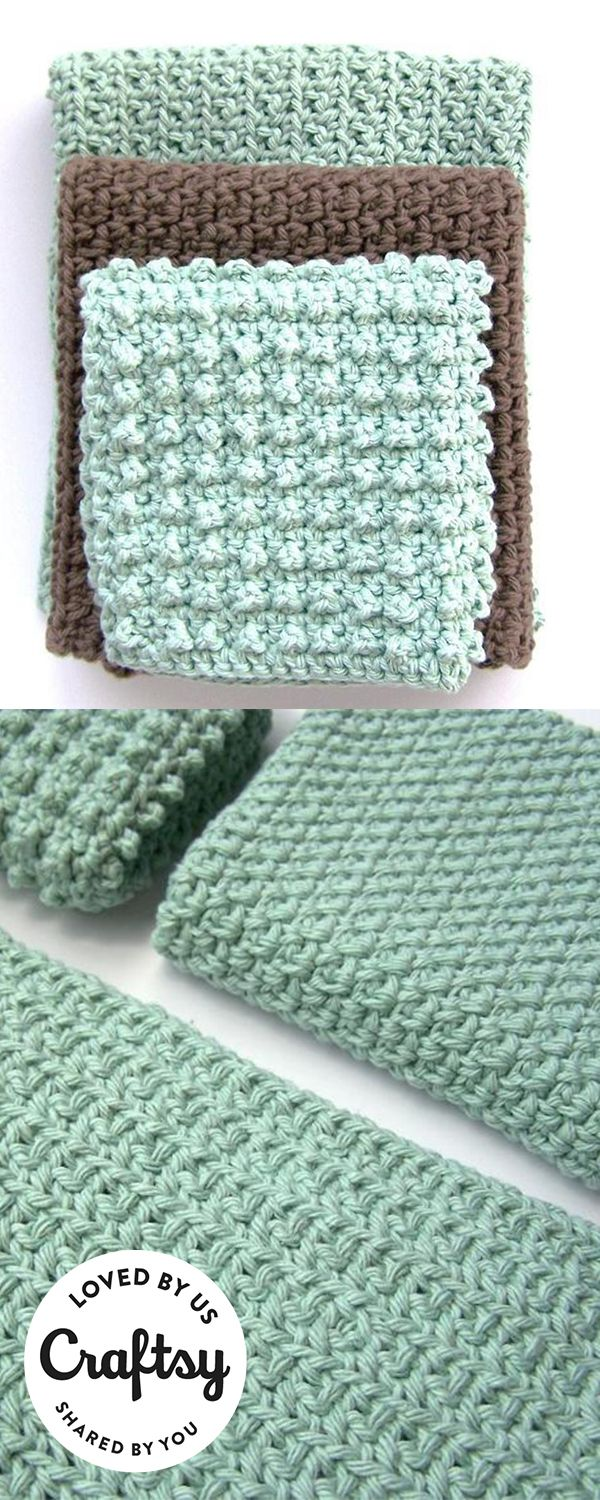 Loving these crochet towels? They are made by a maker just like you! Click to ask questions, show the project some love and even find the same pattern they used.