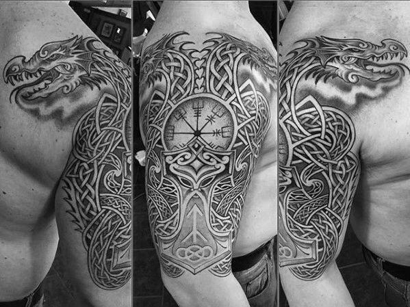 Half Sleeve Tattoos Pics Halfsleevetattoos Celtic Dragon Tattoos Dragon Tattoos For Men Half Sleeve Tattoo