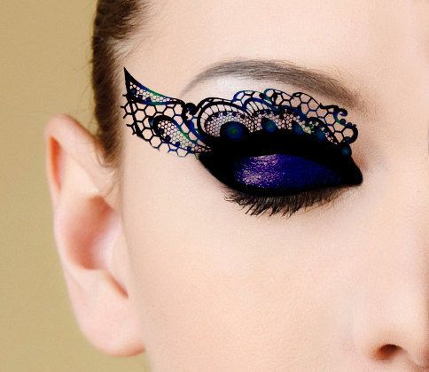 Peacock eye lace that's perfect for a Black Swan costume.