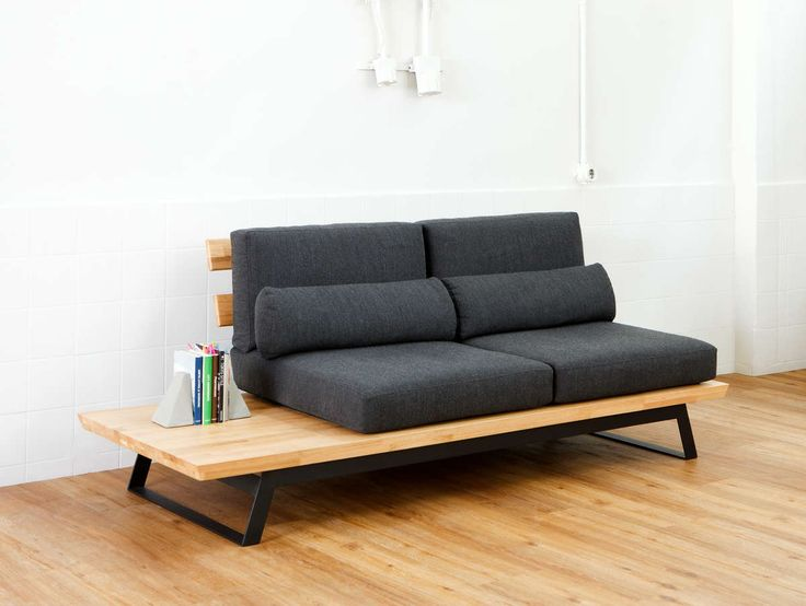 Fu.Mod.Sof.C   Νotably comfortable three part composition of sofas, that can be mixed with another. Made from oak.