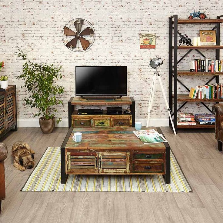 Urban Chic Reclaimed Wood Television Cabinet -  - TV Unit - Baumhaus - Space & Shape - 4