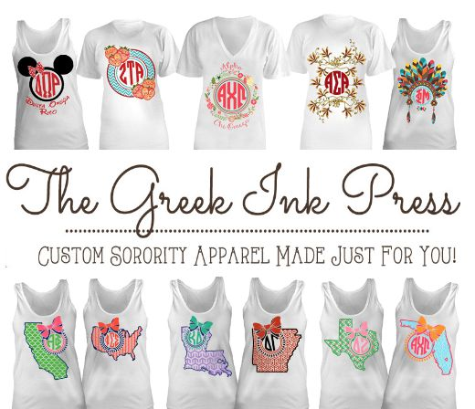 612 best more than a t shirt images on pinterest for Sorority t shirt design