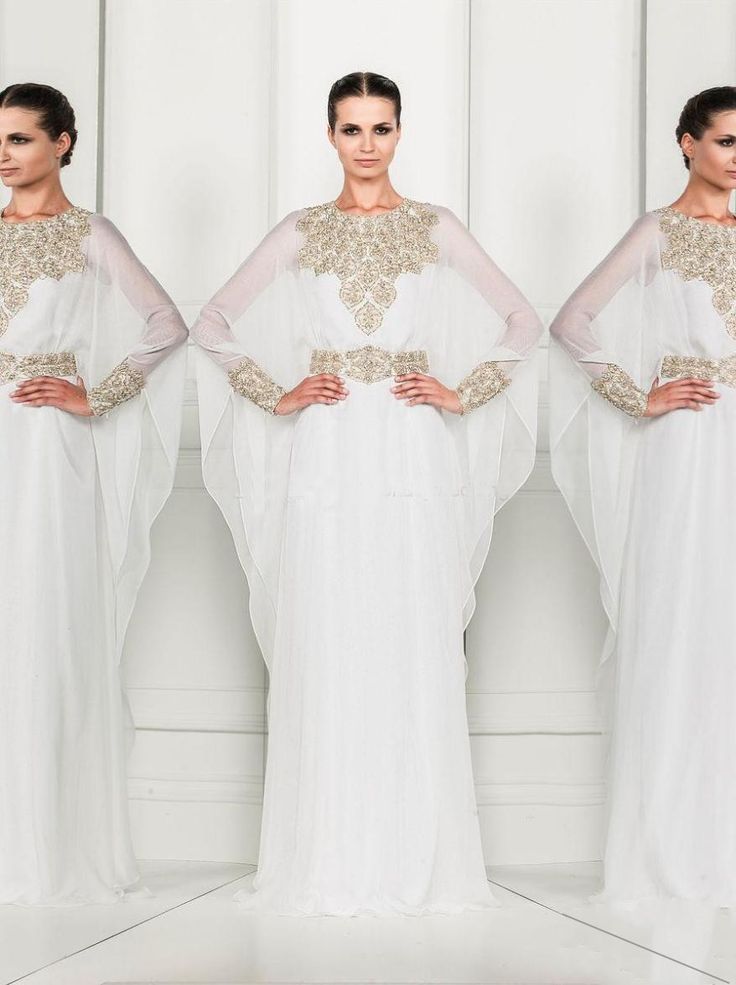 Find More Evening Dresses Information about Arabic Dress White Long Sleeve Elegant Chiffon Evening Party Gowns Beaded High Neck Hippie Prom Dresses Vestidos De Festa,High Quality Evening Dresses from Meeting Mr White Wedding Custom Store on Aliexpress.com