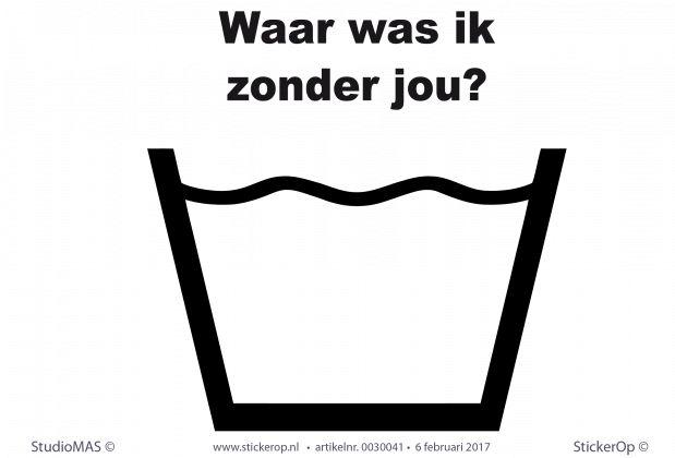 Muursticker teksten keuken - Waar was ik zonder jou? - StickerOp.nl