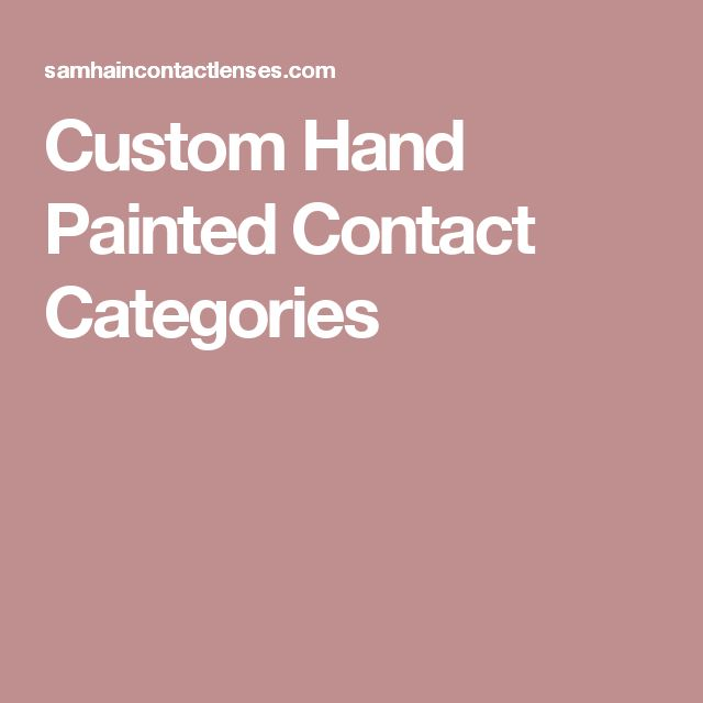 Custom Hand Painted Contact Categories