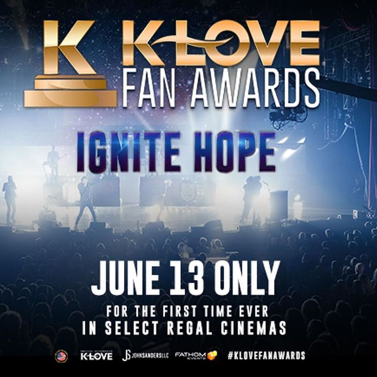 The ultimate fan experience for Christian music lovers comes to your local movie theater with #KLoveFanAwards on 6/13. See performances by @themercyme @jeremycampofficial @jesusculture and more! #LinkInBio for tickets.