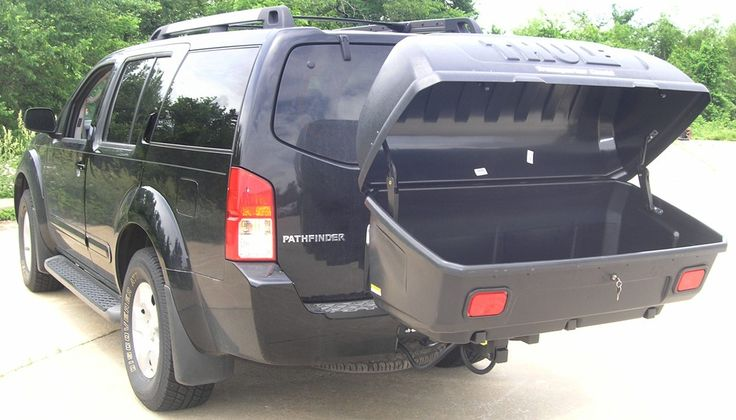 luggage carriers for suv walmart | ... Enclosed Cargo Carrier - Tilting Thule Hitch Cargo Carrier TH665C