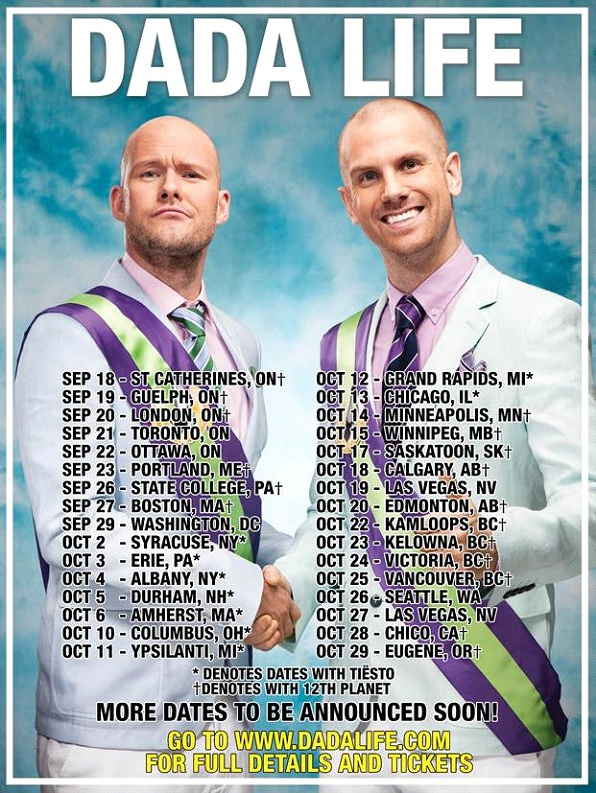 Dada Life US Tour  Tickets are now on sale! | Top House Music