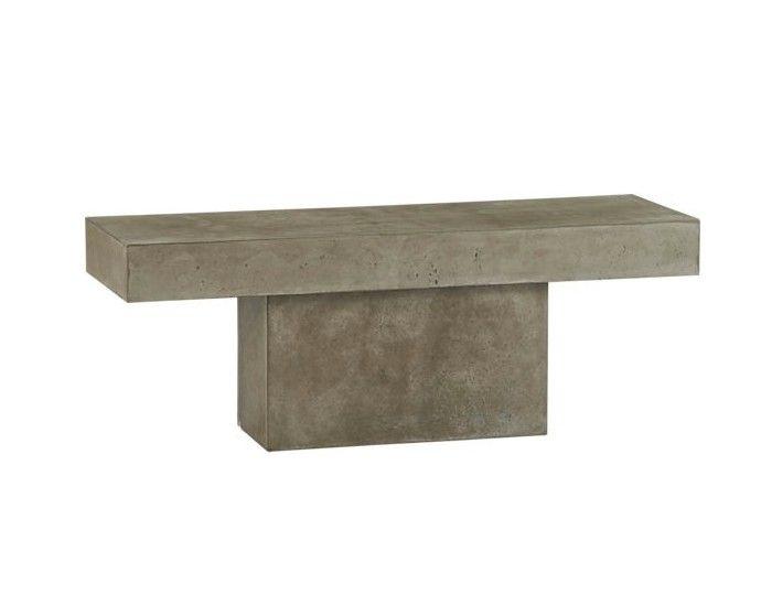 Fuze concrete outdoor bench