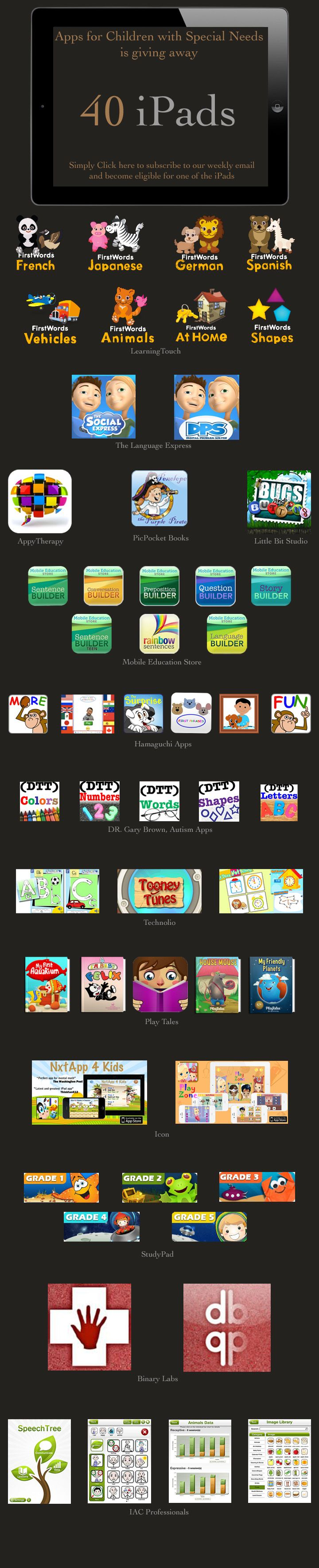 Schedule app for ipad autism giveaways