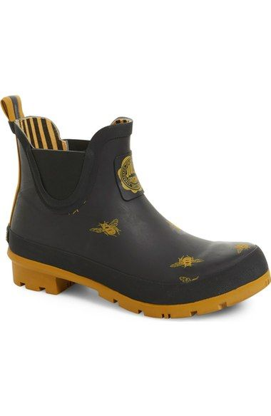 Joules 'Wellibob' Short Rain Boot (Women) available at #Nordstrom
