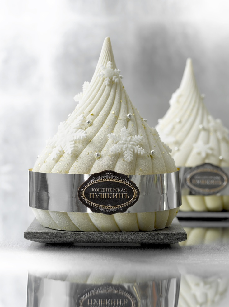 Bûche dôme blanc - Café Pouchkine #Christmas #Inspiration #Dessert