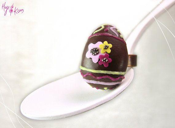 Easter Chocolate Egg Ring - Mini Food Jewelry
