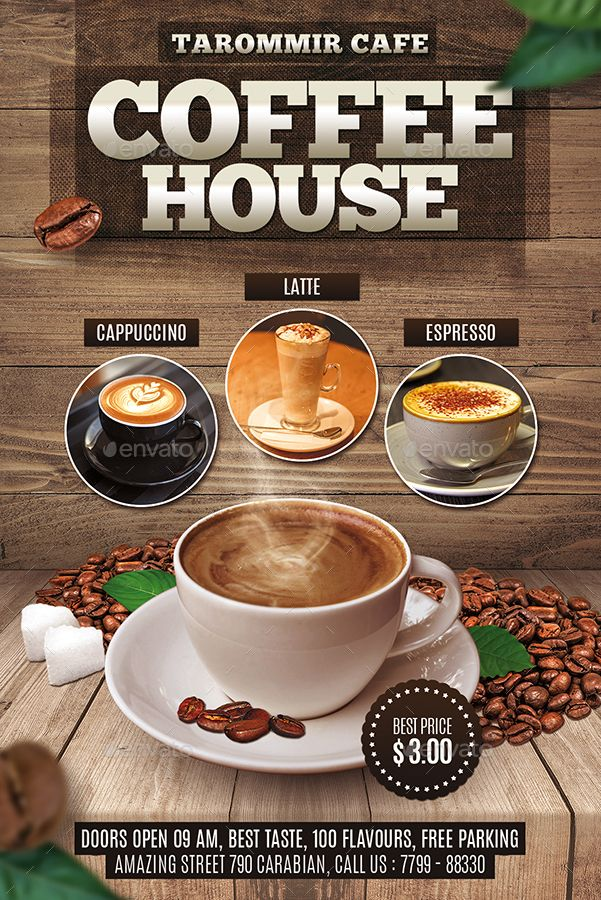 Coffee House Flyer Best Coffee Shop Coffee Poster Design Food Poster Design