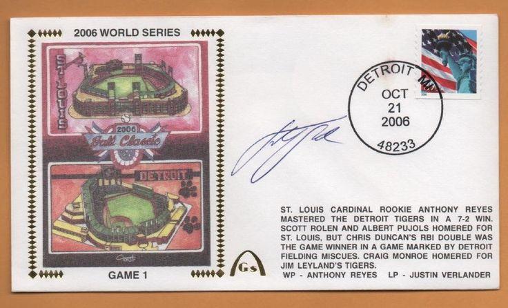 Justin Verlander BLEM 2006 World Series Autographed Gateway Stamp Envelope