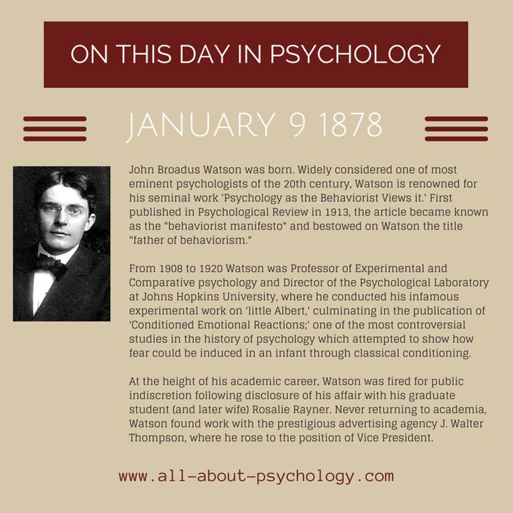 history of behaviorism The history of behaviorism and behavior analysis our purpose is to advance behavior analysis, nationally and internationally, through a greater understanding of its history.