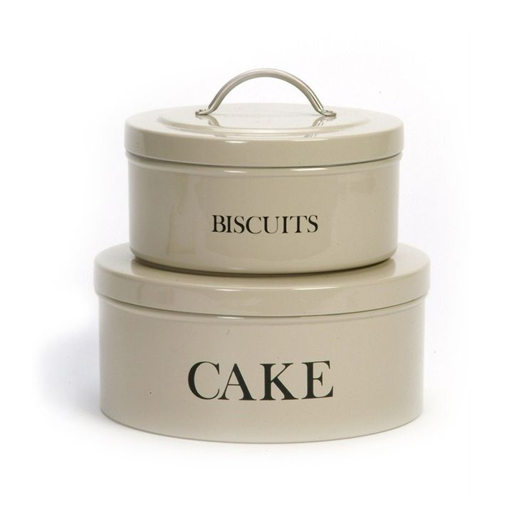 Buy Garden Trading Stackable Cake & Biscuit Tin Set - Clay | Divertimenti