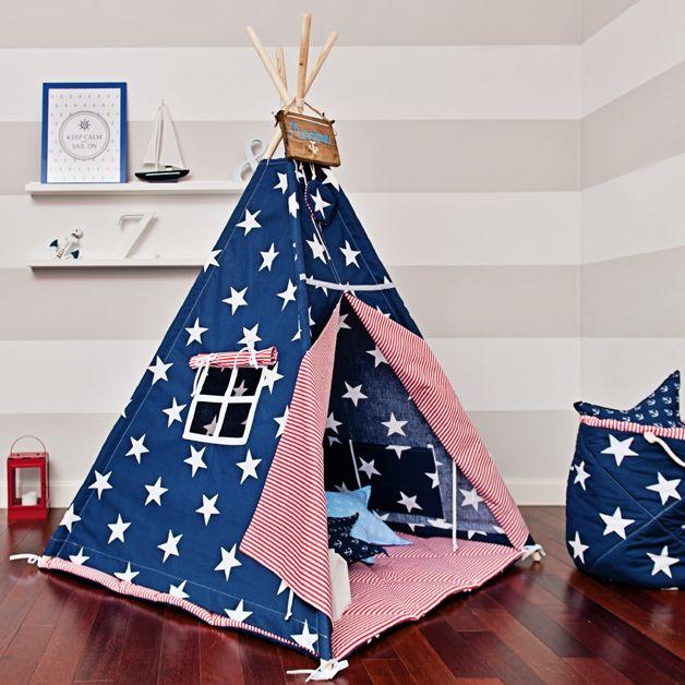 Tipi für das Kinderzimmer für großen Spielspaß / teepee for nursery, children playground made by FUNwithMUM via DaWanda.com