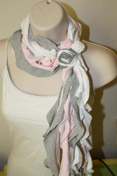 old t shirts into scarf
