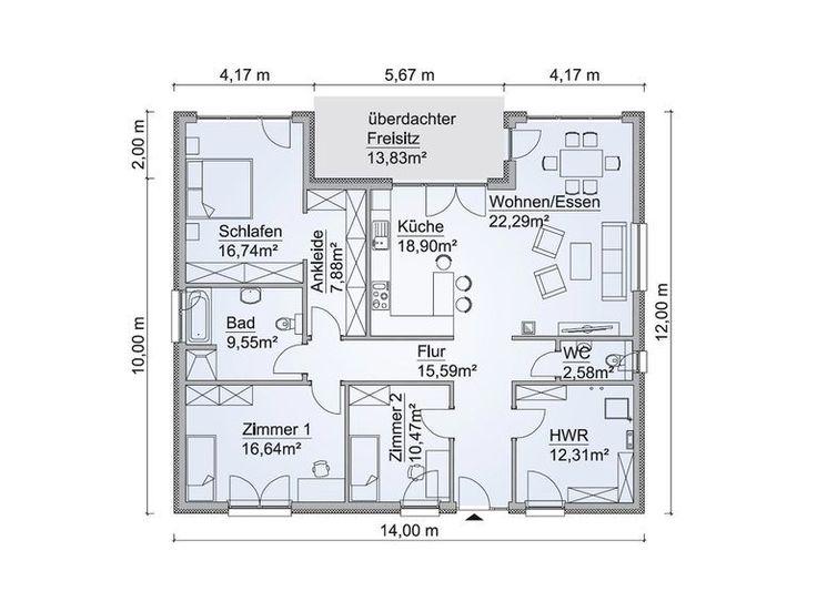 bungalow sh 146 b grundriss tiny house floorplans. Black Bedroom Furniture Sets. Home Design Ideas