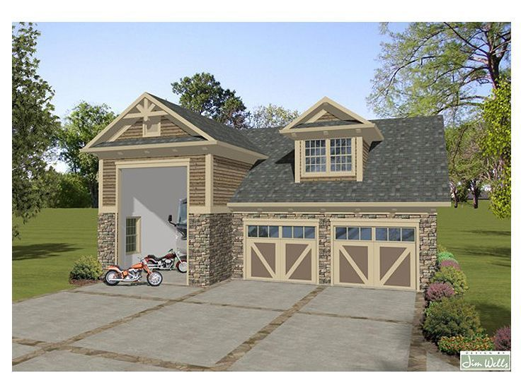 12 best 3 car garage plans images on pinterest garage for Two car garage with apartment on top
