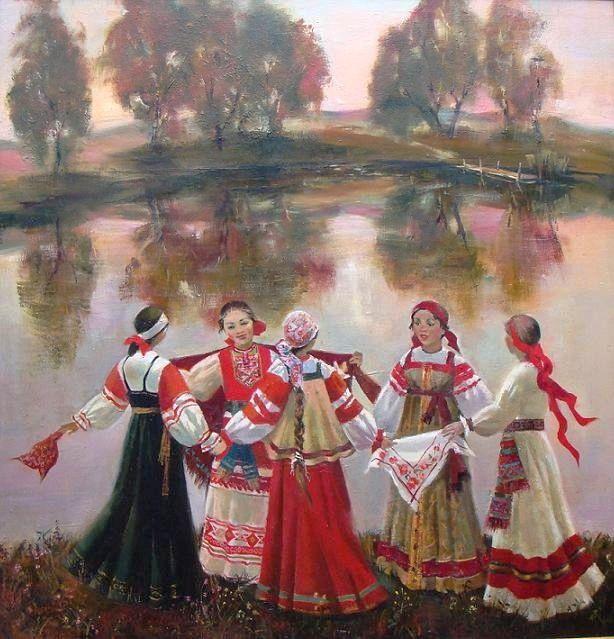 Русские хороводы в картинках