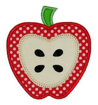Free Applique Designs | GG Designs Embroidery - Apple Applique (Powered by CubeCart)