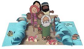 Moses and the Parting of the Red Sea toilet paper roll craft