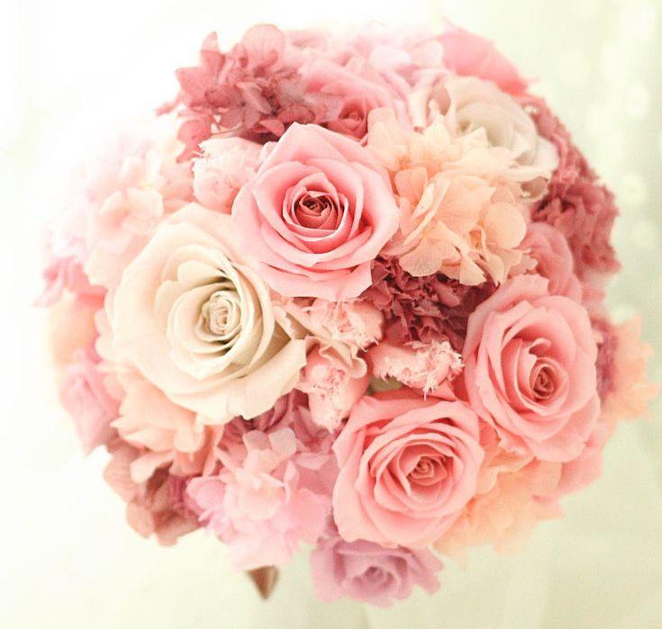 花の帽子 あじさいのピンク : 一会 ウエディングの花
