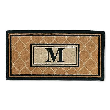 Champlain Monogrammed Coco Door Mat For The Home Coir