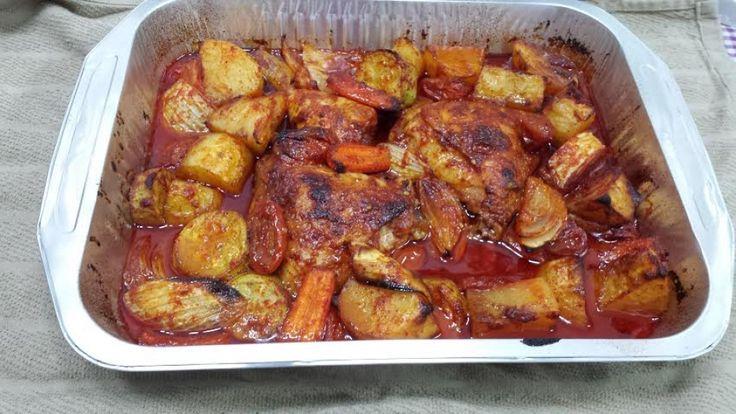 עוף עם ירקות בתנור ארוחה מושלמת