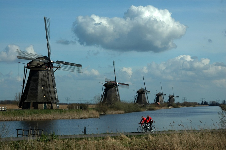 The Windmills of Kinderdijk, a real Dutch landmark and a Unesco Heritage site.