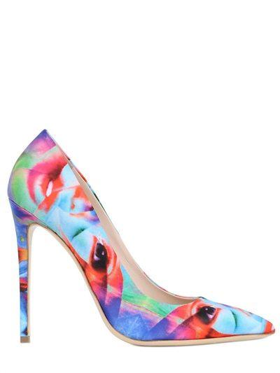 """Shoes to Crush on - Gianmarco Lorenzi """"surrealism"""" silk pumps. Fabulous!"""