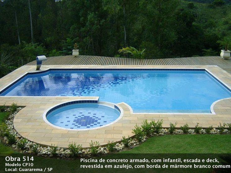 25 melhores ideias de piscina de concreto no pinterest for Mini albercas