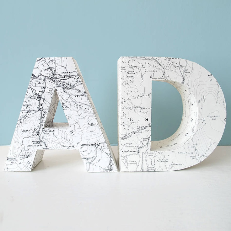 Personalised 3D Map Letter