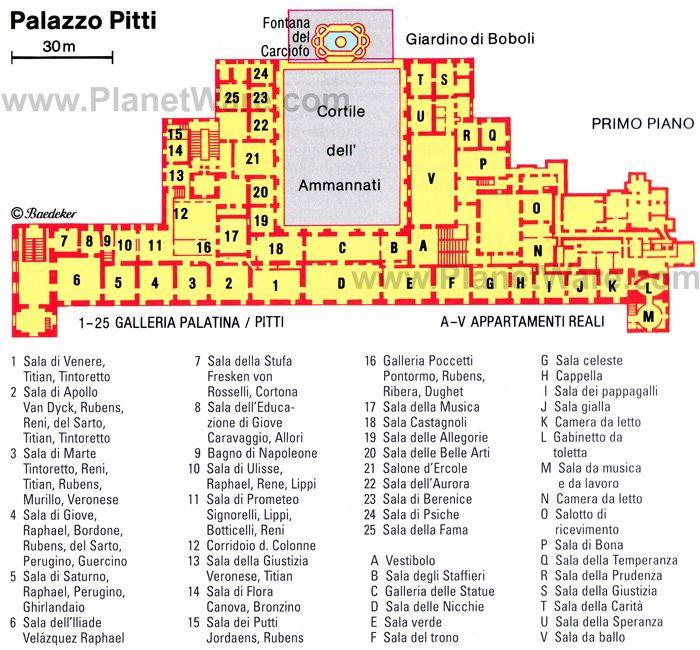 Palazzo Pitti Floor Plan Map
