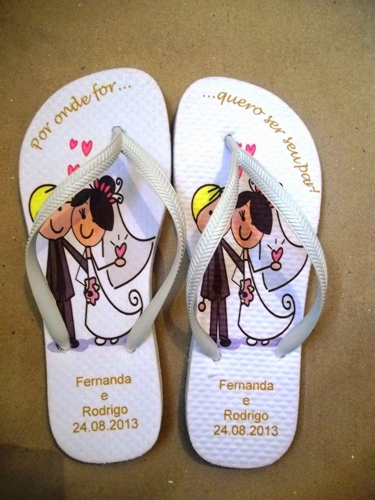chinelos em eva personalizados para casamento - Pesquisa Google