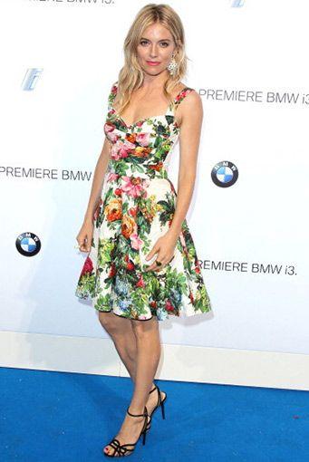 Sienna Miller - Elbise: Dolce & Gabbana