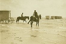 Wyk auf Föhr - Wikipedia, the free encyclopedia- Bathing carts in Wyk around 1895....