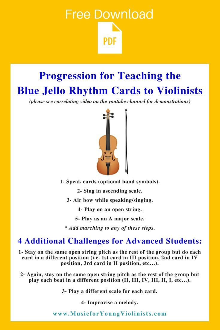 Music Mind Games   Blue Jello Teaching Progression for Violinists