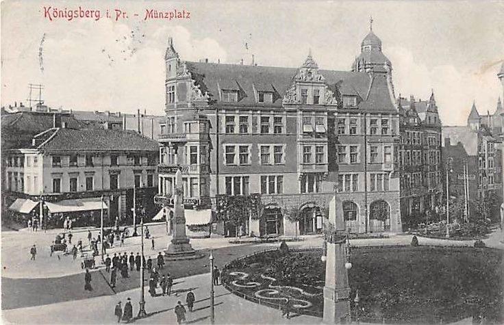 Alte AK Königsberg / Kaliningrad i. Pr. Münzplatz