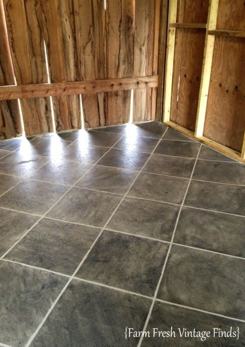 Can you believe this is concrete? Yup you read that correctly. It's stained with a gallon of semi-transparent stain and I can show you how to do it too.