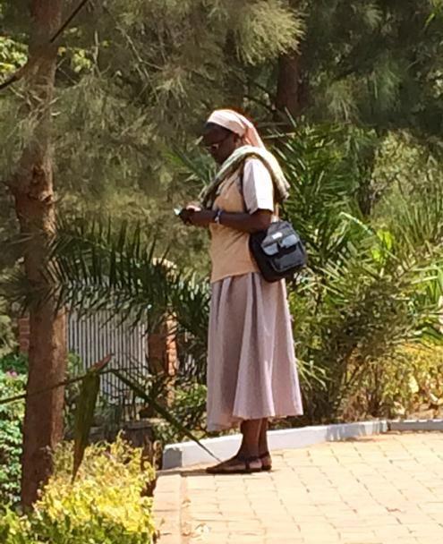 Zimbabwean nun visits the Genocide Memorial, Kigali