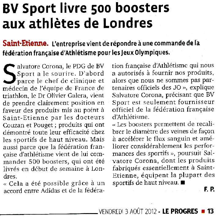 BV SPORT vient de répondre à une commande de la fédération française d'Athlétisme pour les Jeux Olympiques.