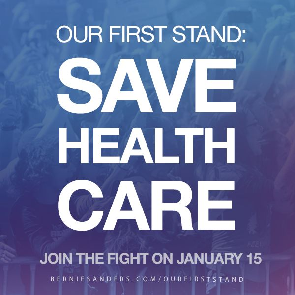 Now is the time to fight back. Tell Republicans loudly and clearly that they are not going to get away with dismantling our health care. Join a protest near you this SUNDAY, JANUARY 15 to demonstrate your support for healthcare. More info at the link. #OurFirstStand