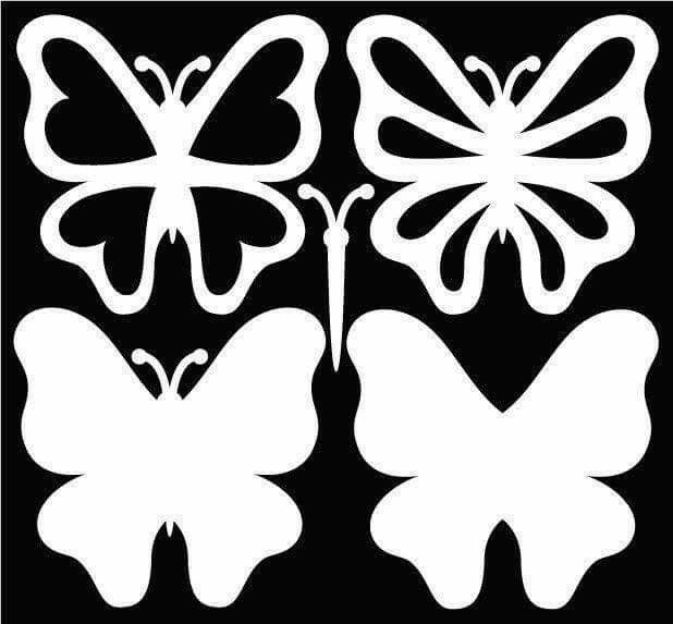 Бабочки цветы шаблоны для открыток, новым