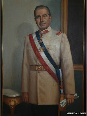 Pintura del General Pinochet Ugarte